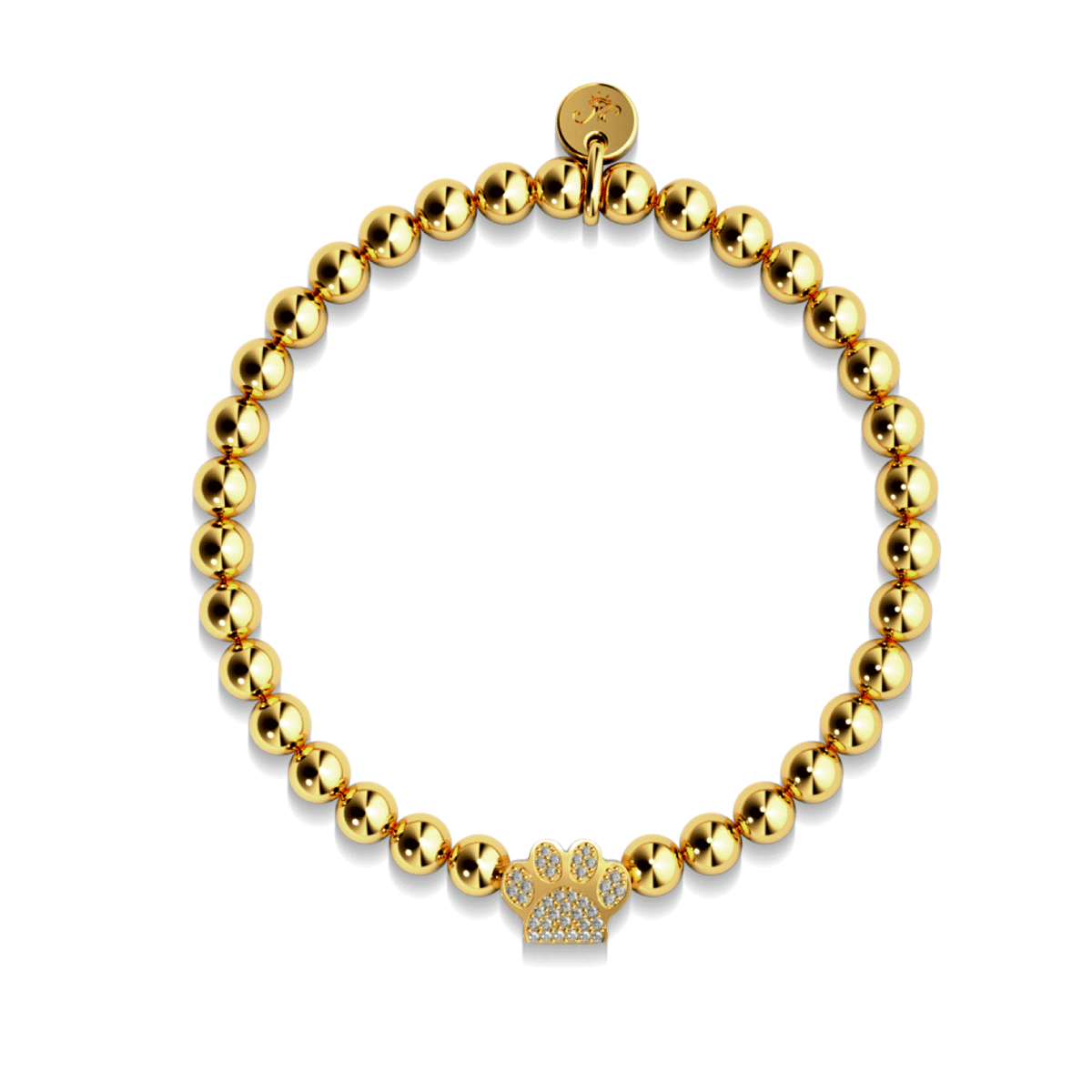 Paw | 18k Gold | Crystal Kitty Print