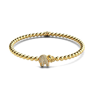 Sanctuary | 18k Gold | Crystal Elephant Charm Bracelet