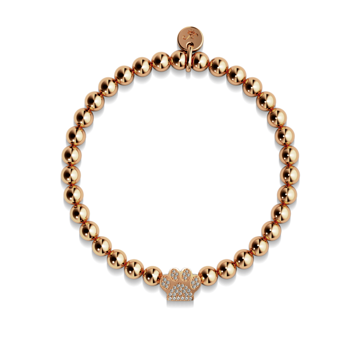 Paw | 18k Rose Gold | Crystal Kitty Print
