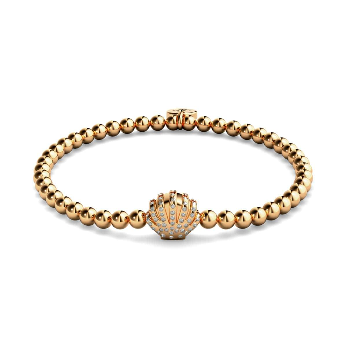 Playa | 18k Rose Gold | Crystal Sea Shell Charm Bracelet