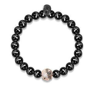 Men's | Balance | 18k Rose Gold & Gunmetal | Crystal Yin Yang