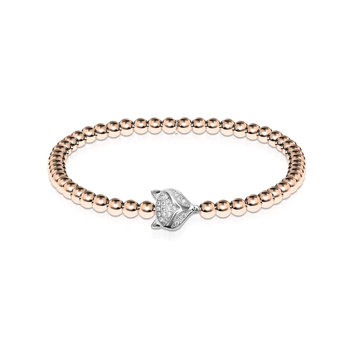 Vixen | 18k Rose Gold & Silver | Crystal Fox Bracelet