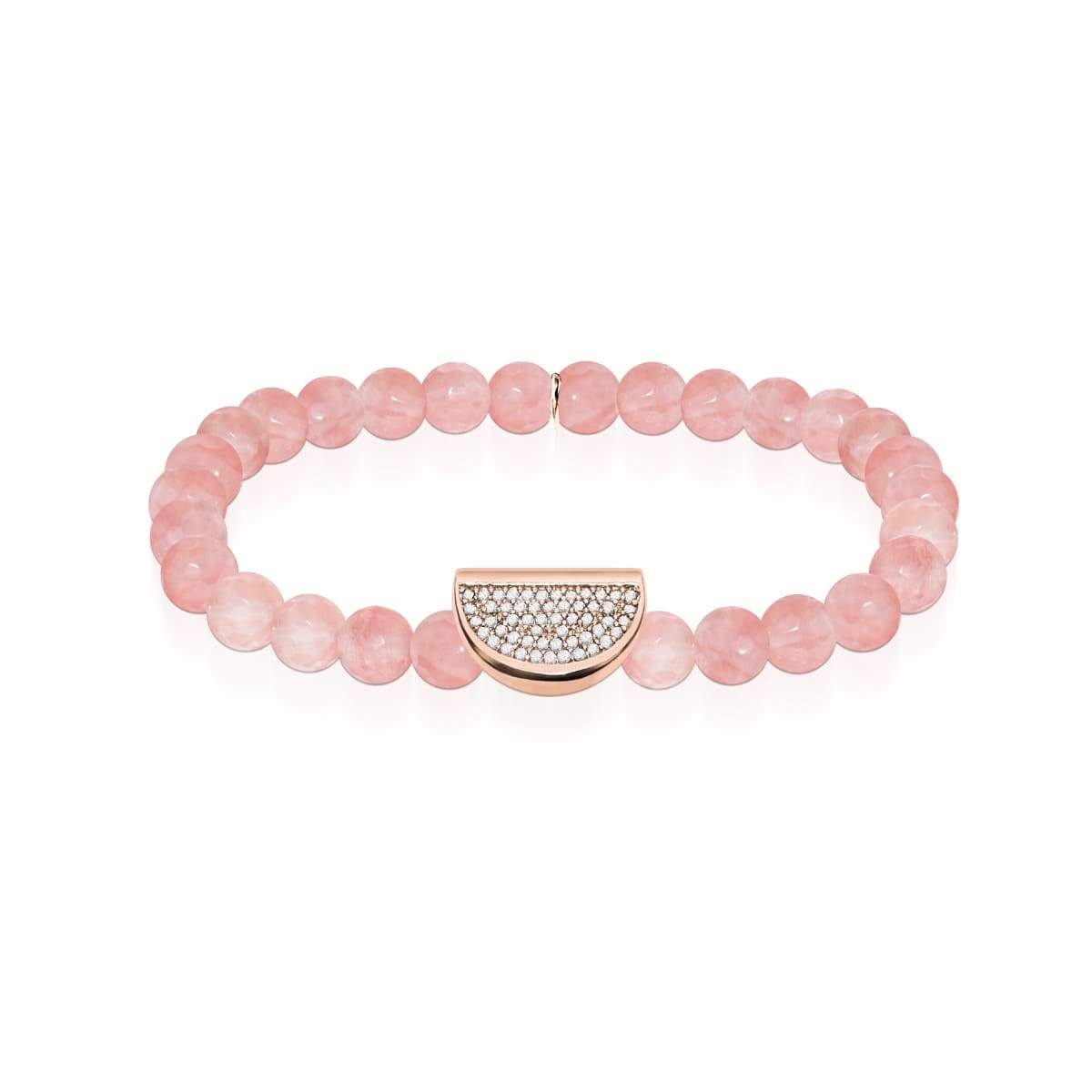 Juicy | Or rose 18 carats et apyrite rose | Crystal Melon