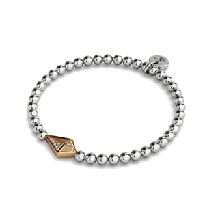 Kite | Silver & 18k Rose Gold | Crystal Charm Bracelet