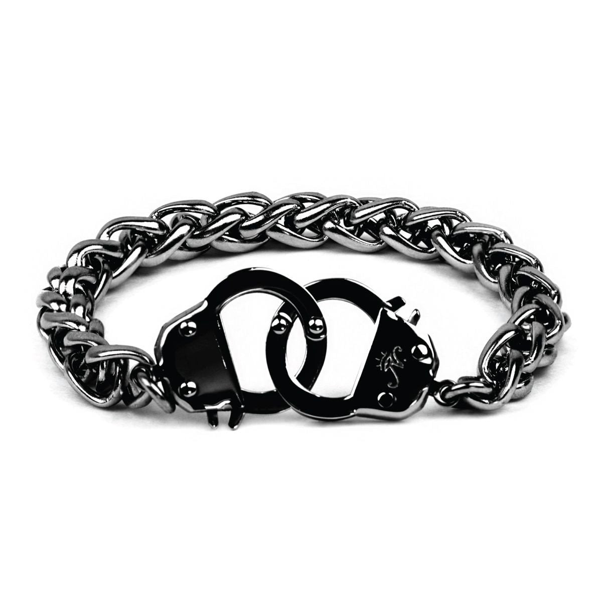 Men's | Gunmetal | Chain Cuff Bracelet