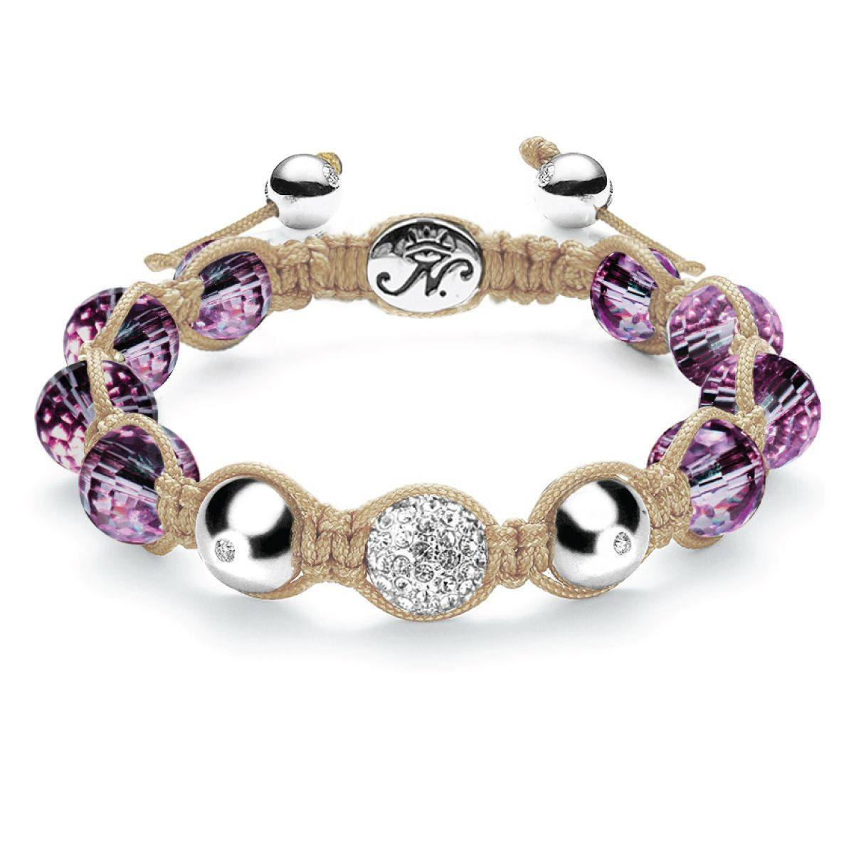 Purple Crystal Dreamcatcher Kikiballa Bracelet