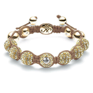 Gold Brown Crystal Kikiballa Bracelet