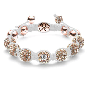 The Crystal Kikiballa | Rose Gold White Bracelet