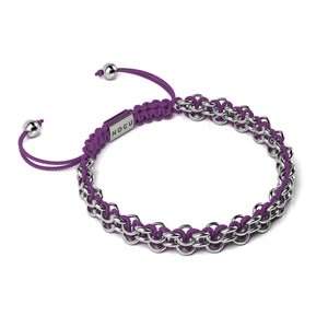 Supreme Kismet Links Bracelet | Silver | Purple | Thin