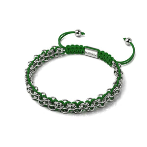 Tree Frog Links | Mini Kismet Bracelet | Green x Silver