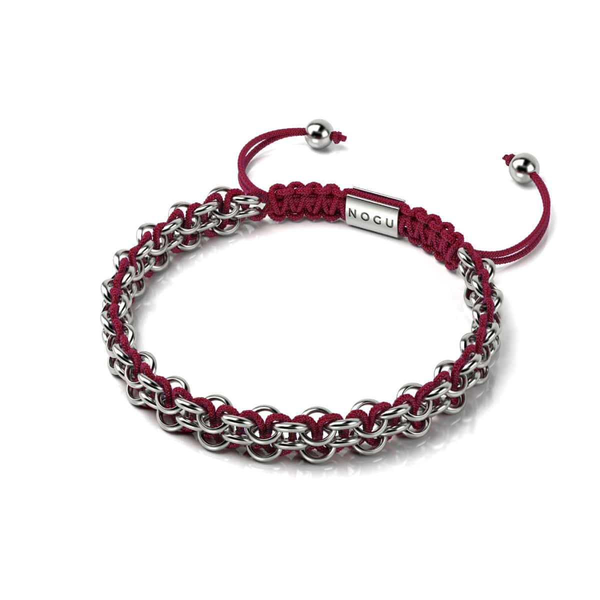 Kismet Links | Pantone Bracelet | Silver | Haute Red