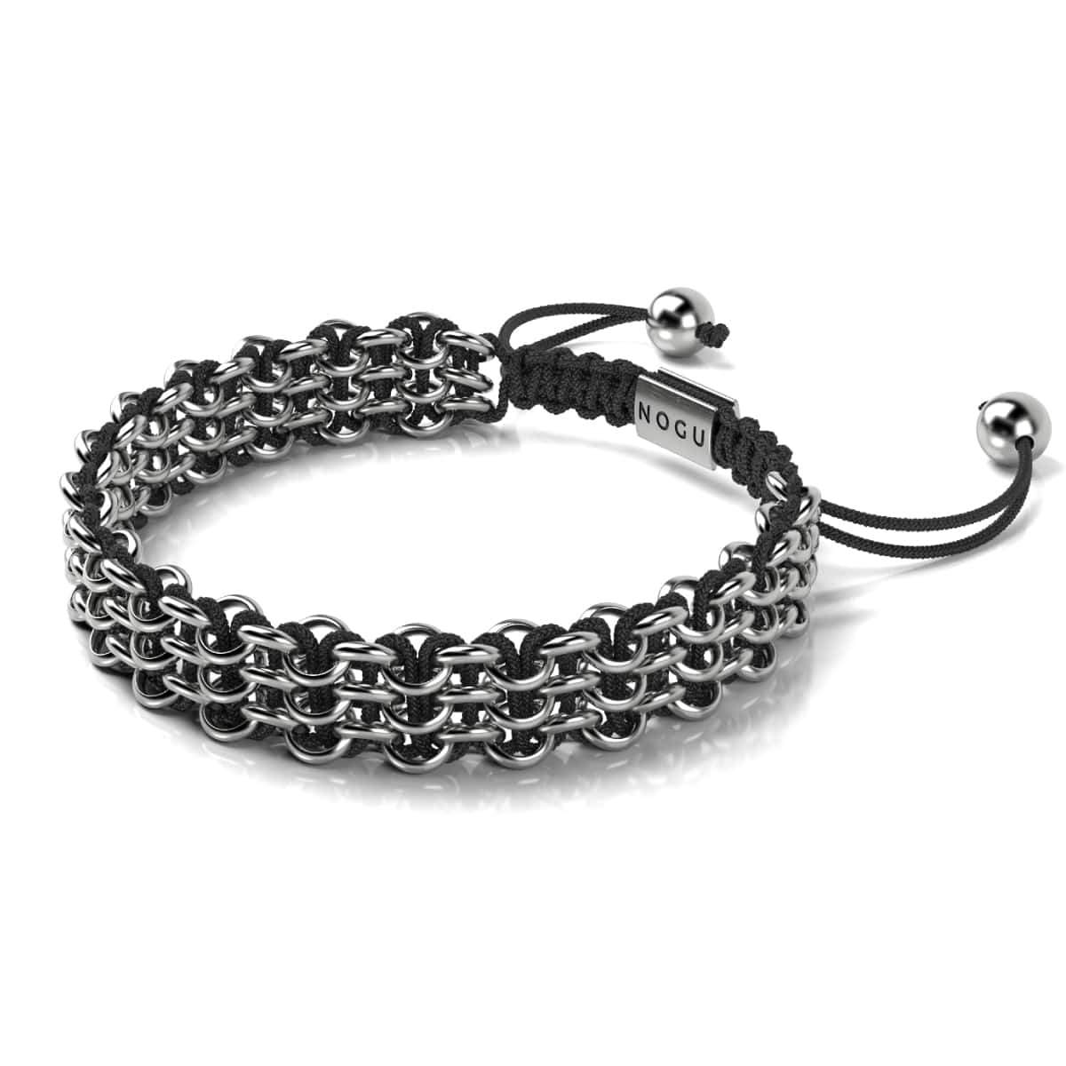 Men's | Silver | Black | Kismet Links Bracelet