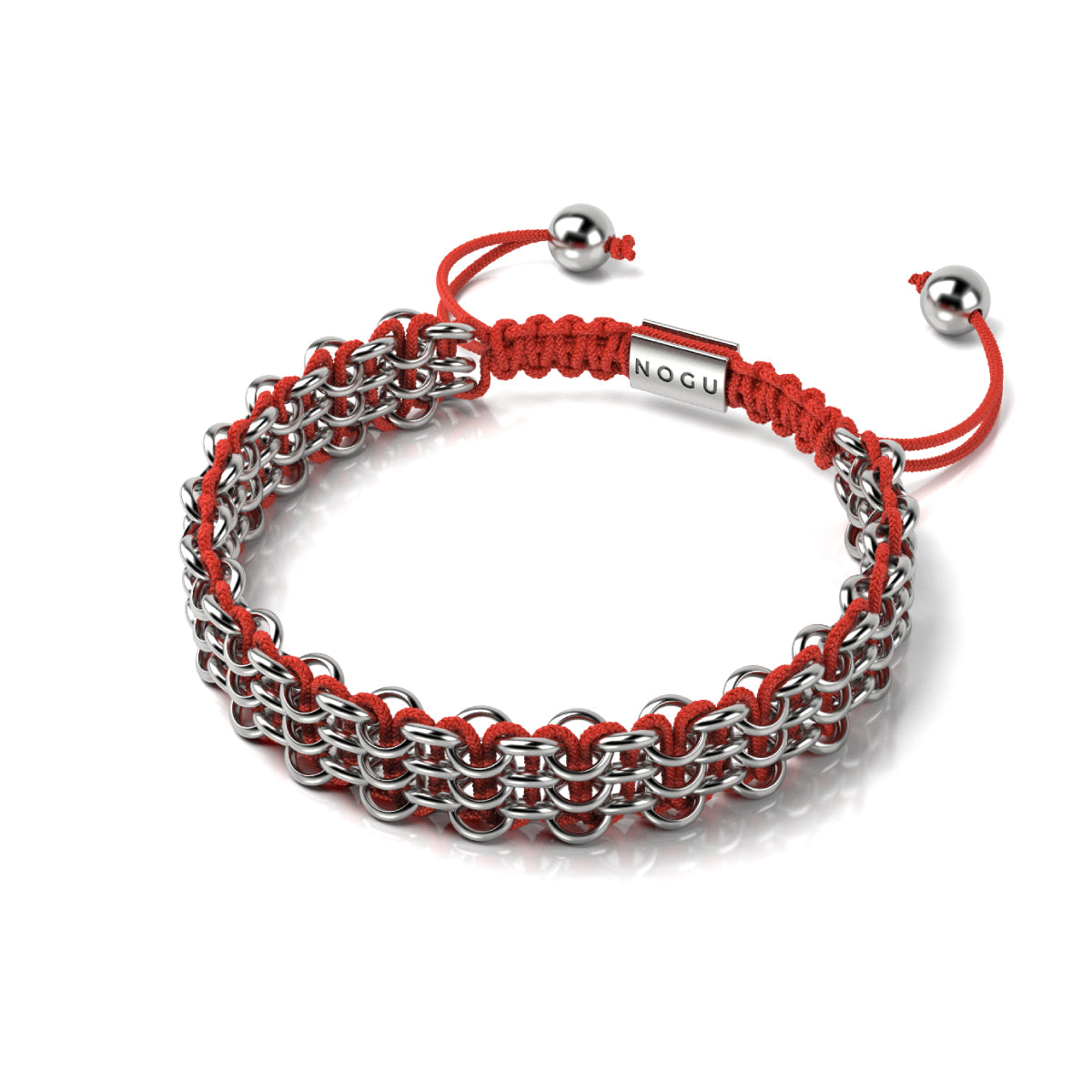 Supreme Kismet Links Bracelet | Silver | Red