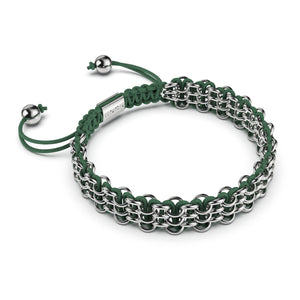 Supreme Kismet Links Bracelet | Silver | Green