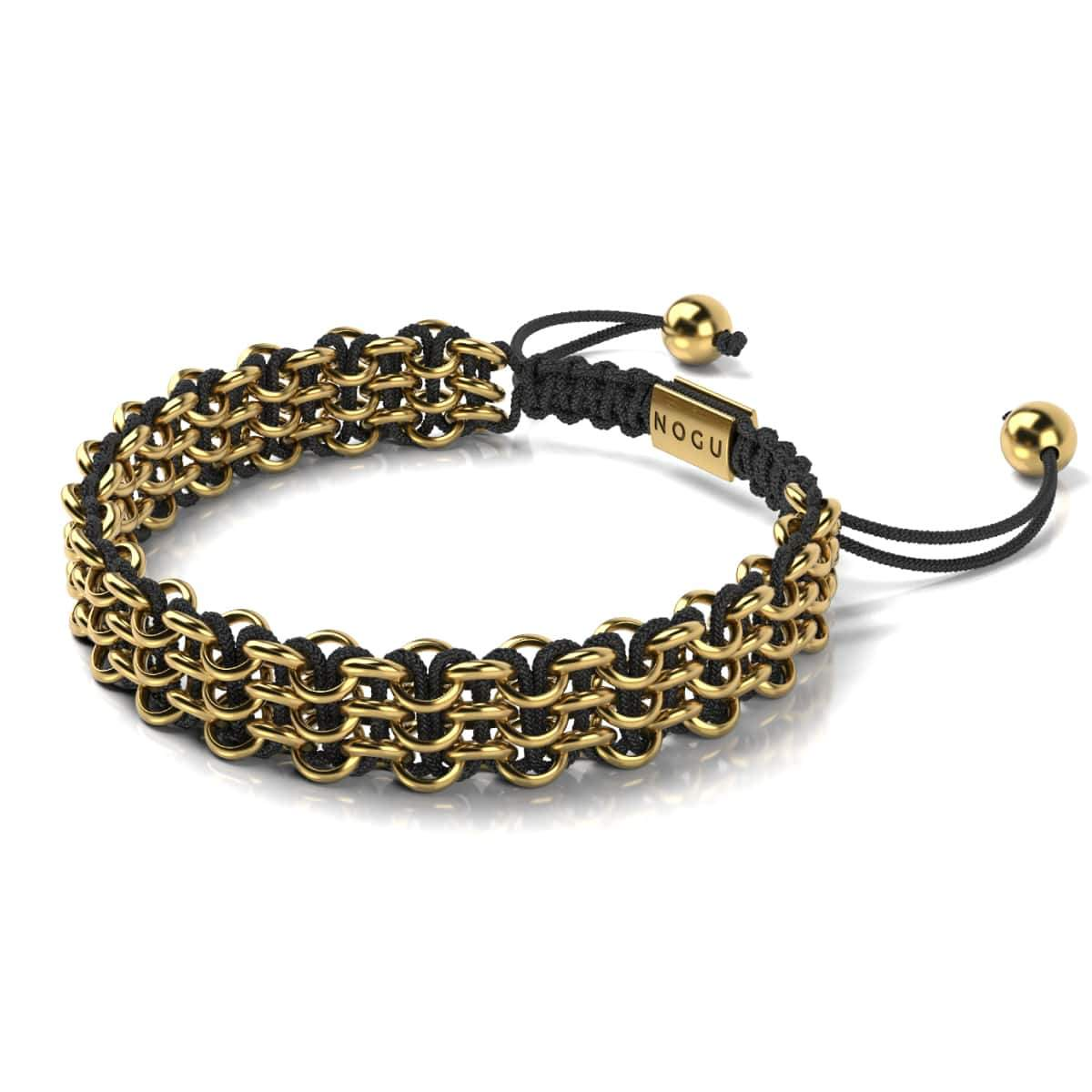 Men's | 18k Gold | Black | Kismet Links Bracelet