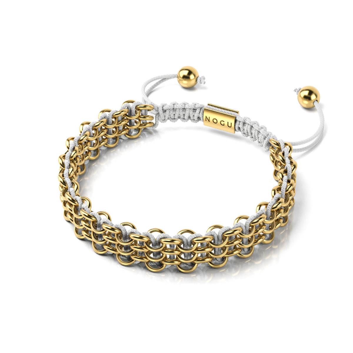 Supreme Kismet Links Bracelet | 18k Gold | White