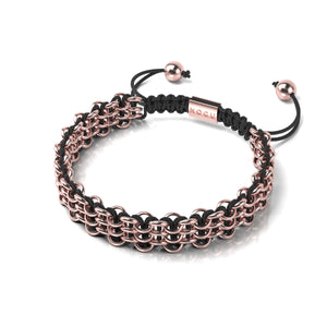 Supreme Kismet Links Bracelet | 18k Rose Gold | Black