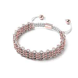 Supreme Kismet Links Bracelet | 18k Rose Gold | White