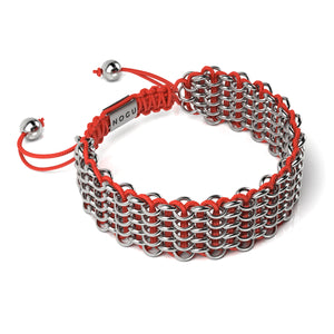 Supreme Kismet Links Bracelet | Silver | Red | Deluxe