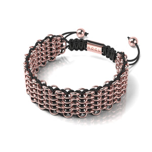 Supreme Kismet Links Bracelet | 18k Rose Gold | Black | Deluxe