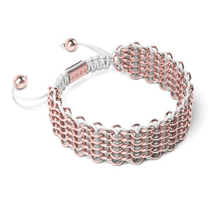 Supreme Kismet Links Bracelet | 18k Rose Gold | White | Deluxe