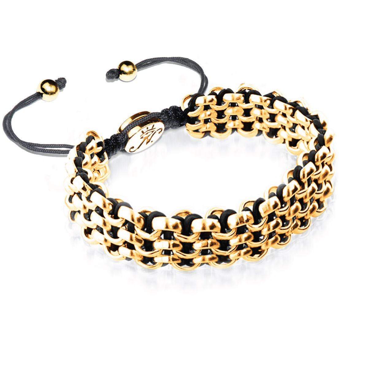 Gold Kismet Links Bracelet | Black