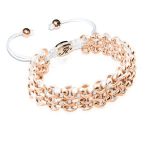 Rose Gold Kismet Links Bracelet | White