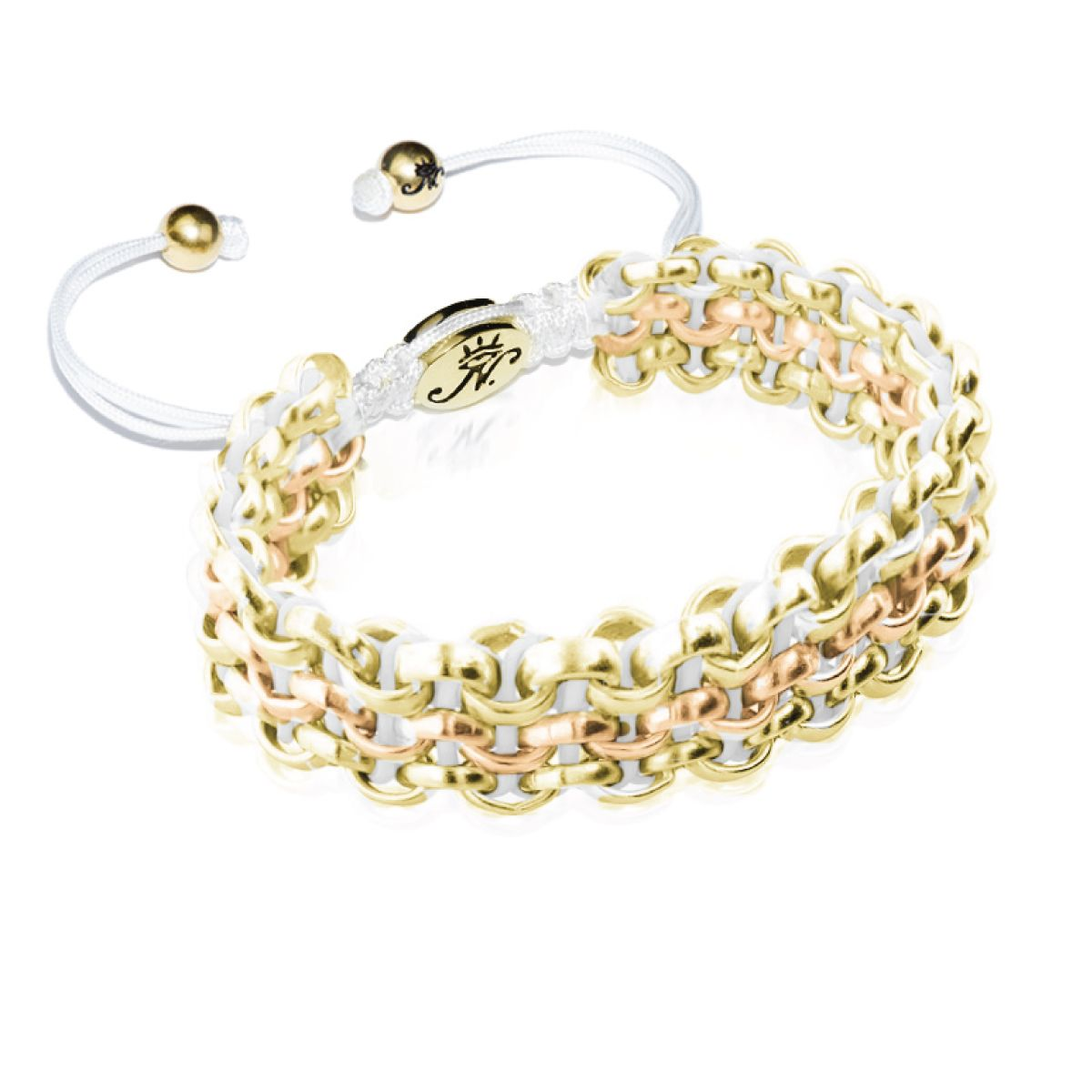 Two-Tone Gold Kismet Links Bracelet | Snow