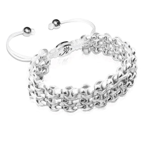 Silver Kismet Links Bracelet | White
