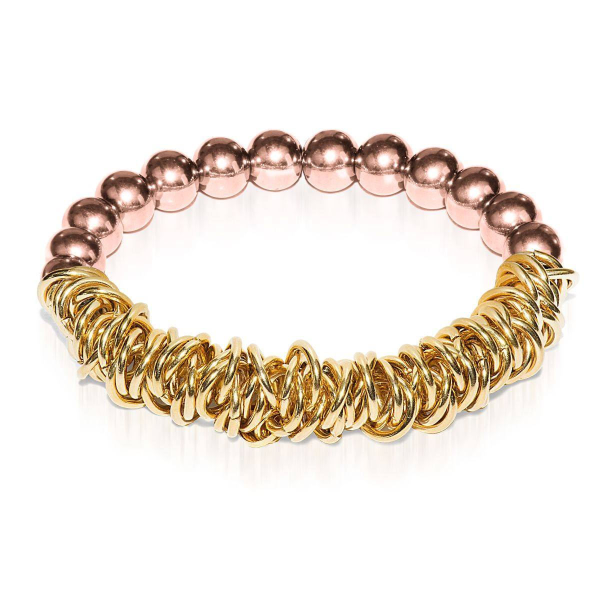 18k Rose Gold | 18k Gold | Links of Love Bracelet