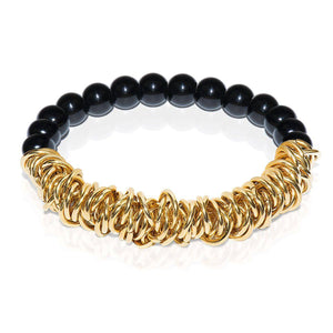 18k Gold | Black Onyx | Links of Love Bracelet
