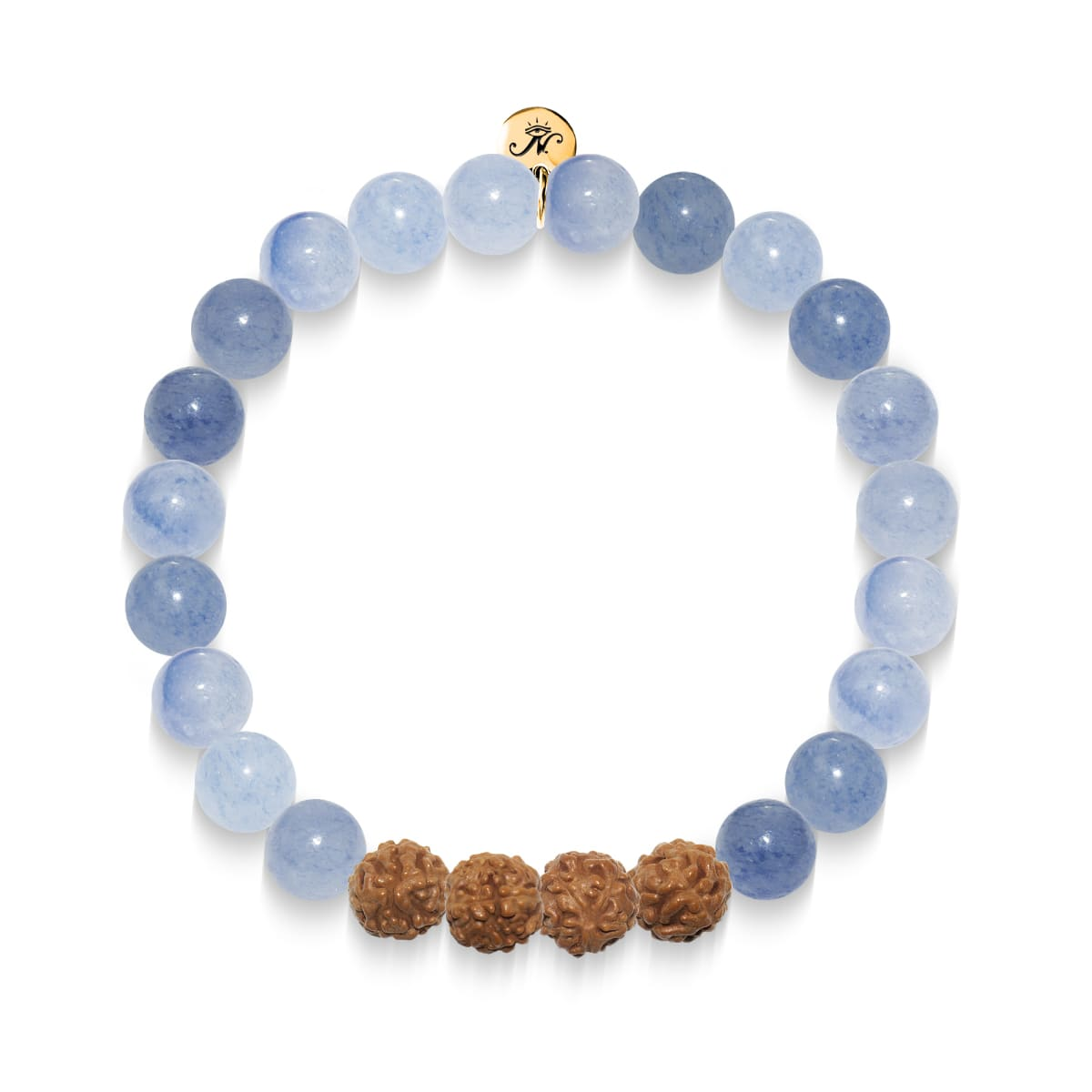 New Beginnings | Gold Mala Yoga Bracelet | Blue Aventurine