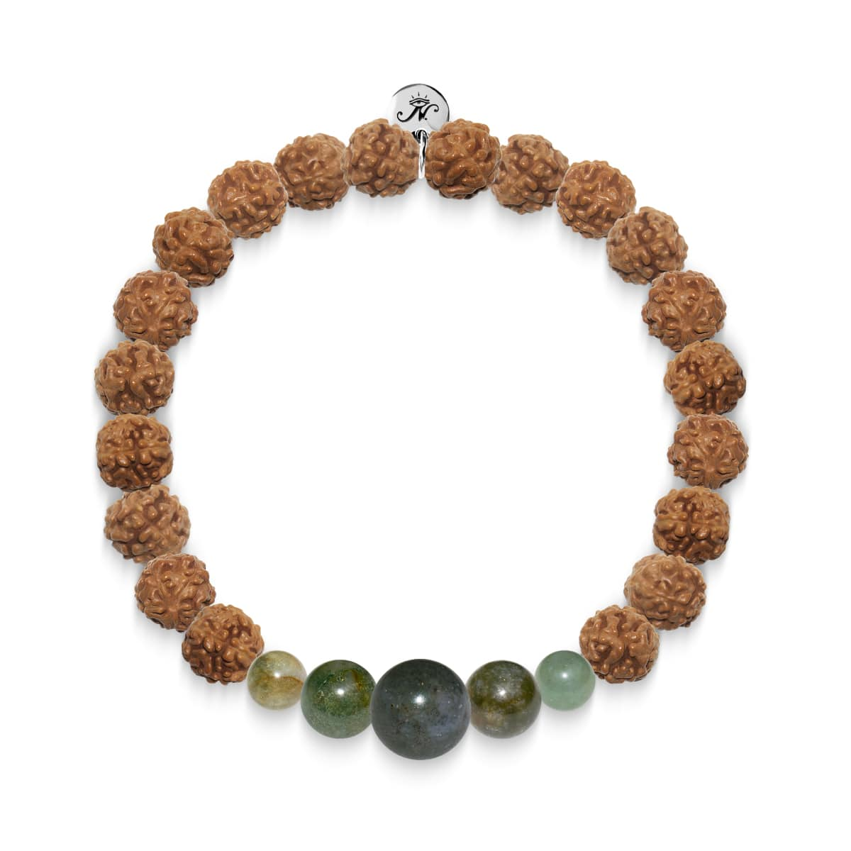 Connection | Silver Mala Yoga Bracelet | Indian Agate
