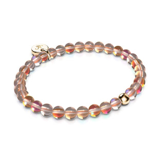 Espresso Crystal | Gold Vermeil | Mermaid Glass Bead Bracelet