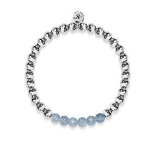 Appealing | Silver | Faceted Grey Jade | Gemstone Expression Bracelet