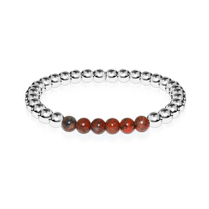 Wistful | Silver | Breciated Jasper | Gemstone Expression Bracelet