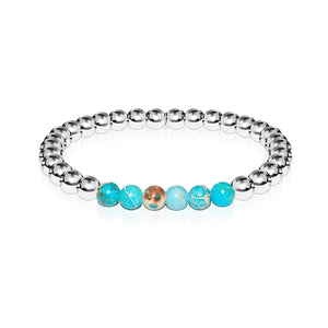 Awe | Silver | Ocean Emperor Stone | Expression Bracelet