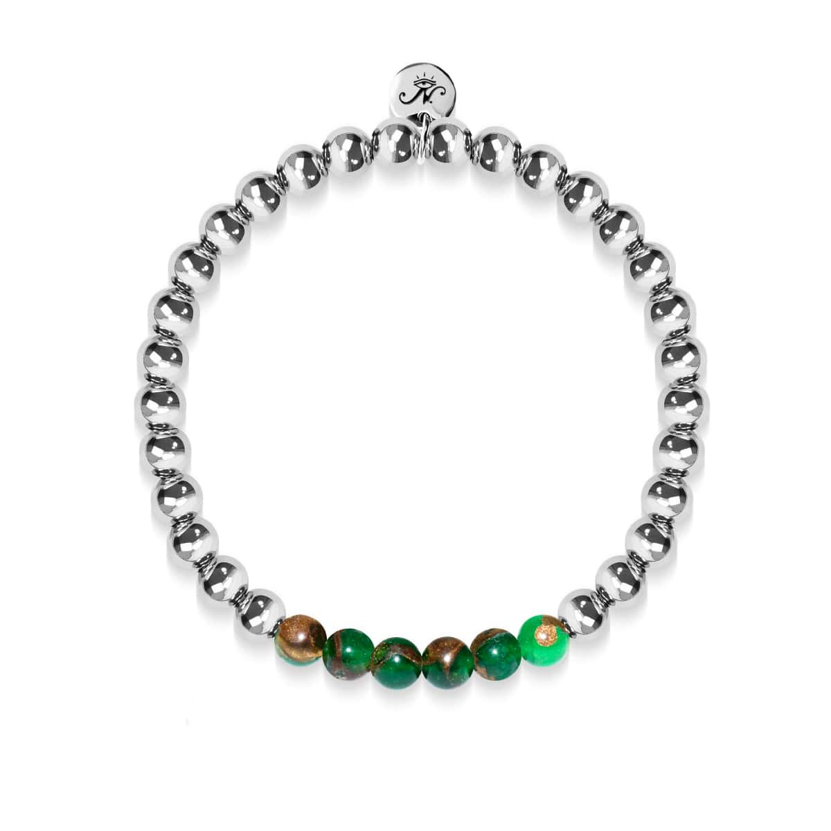 Dreamy | Silver | New Green Agate | Gemstone Expression Bracelet