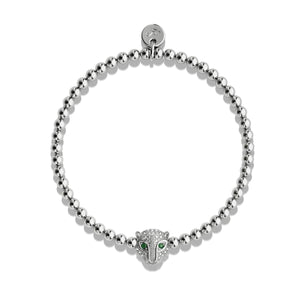 Fierce | White Gold Vermeil | CZ Diamond Cat Bracelet