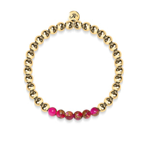 Inspired | 18k Gold | New Red Agate | Gemstone Expression Bracelet