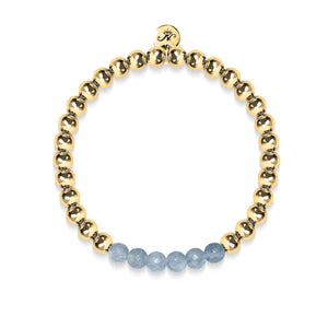 Appealing | 18k Gold | Faceted Grey Jade | Gemstone Expression Bracelet