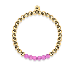 Blissful | 18k Gold | Purple Turquoise | Gemstone Expression Bracelet