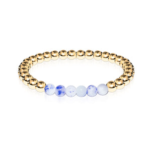 Joyful | 18k Gold | Porcelain Jade | Gemstone Expression Bracelet