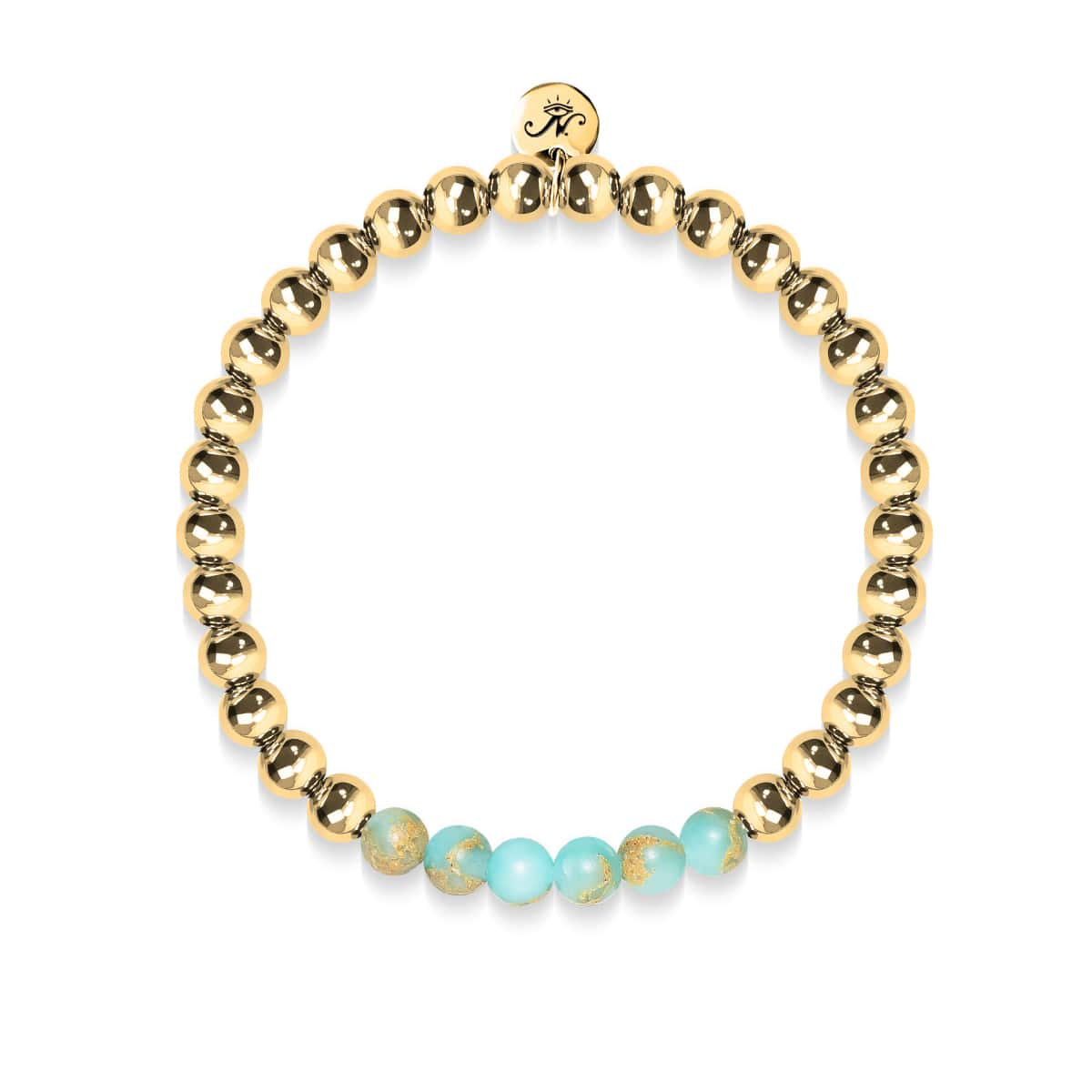 Elated | 18k Gold | Snakeskin Gemstone | Expression Bracelet
