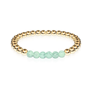 Proud | 18k Gold | Green Turquoise | Gemstone Expression Bracelet