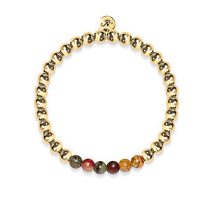 Wild | 18k Gold | Red Picasso Jasper | Gemstone Expression Bracelet