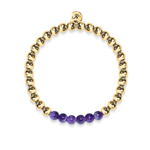 Admiration | 18k Gold | Amethyst | Gemstone Expression Bracelet