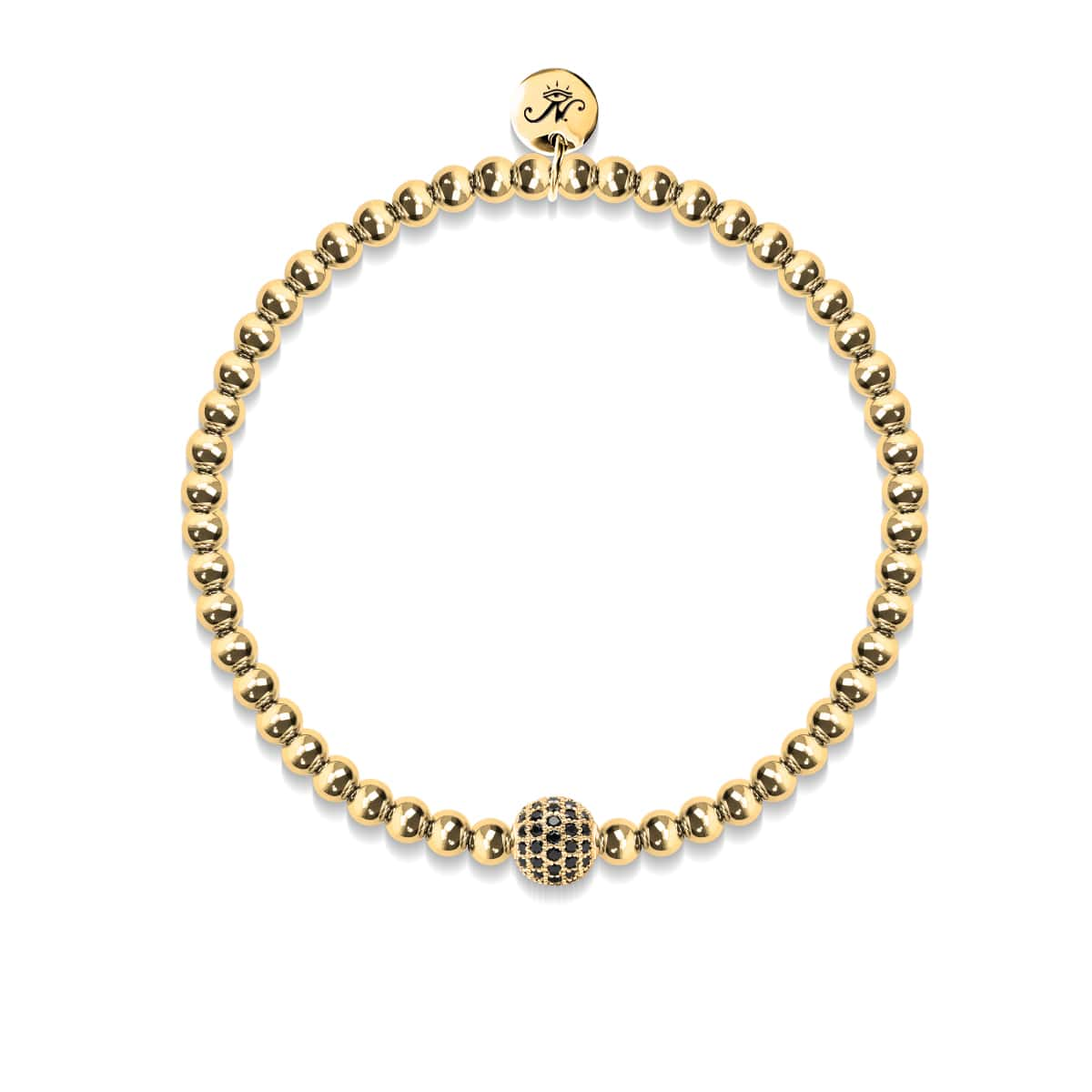 Charismatic | 18k Gold | Black Cubic Zirconia Crystals | Expression Bracelet