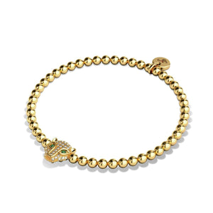 Fierce | 18k Gold | Crystal Cat Bracelet