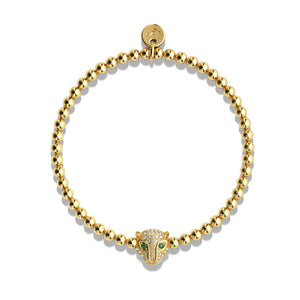 Fierce | Gold Vermeil | CZ Diamond Cat Bracelet